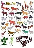CONSUMER KING Mini World Animal Set (40 Pcs Set) with Box,Wildlife Model Children Puzzle Early Education Gift Mini Jungle Animal Toy Set Realistic Animal Figures , Animal Toy Set Play for Kids.