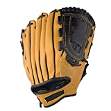 DERTHWER Baseball Gloves, PU Leather Youth Adults Baseball Pitcher Gloves Softball Gloves Right Hand Throw 11.5 Inch for Training Flexibly Hugging The Hand (Color : Yellow, Size : 11.5 Inch)