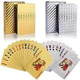 wdede Póker Naipes 2 Paquete Cartas de Poker Impermeables Cartas de póker de plástico Cartas magicas clásicas para niños y Adultos Mesa Juegos de Cartas(54 Piezas/Cubierta)