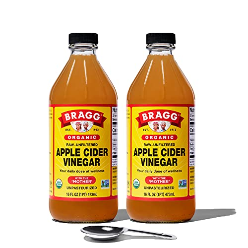 Bragg Organic Apple Cider Vinegar With the Mother– Raw,...