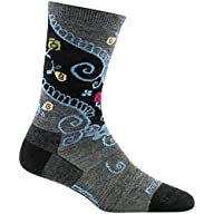 Side Profile View of Women's Darn Tough Twisted Garden Crew Light Sock