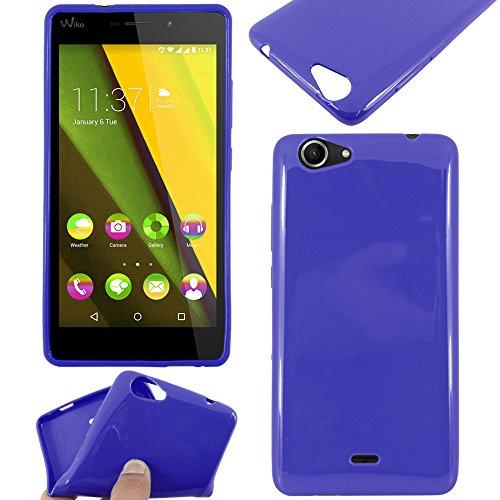 ebestStar - Cover Compatibile con Wiko Pulp Fab 4G Custodia Silicone Gel TPU Protezione Morbida e Sottile, Blu Scuro [Apparecchio: 155.4 x 79.3 x 8.5mm, 5.5'']
