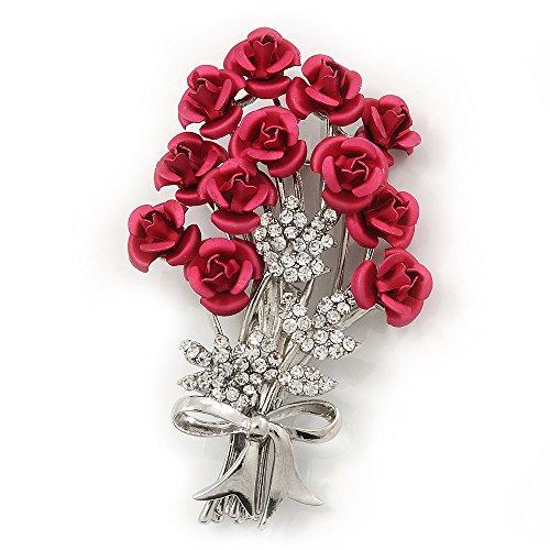 Avalaya - Broche de diamantes de color rosa