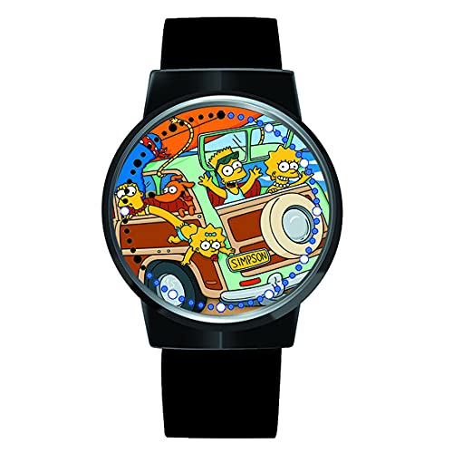 Reloj de Anime The Simpsons Reloj Pantalla táctil LED Reloj de Pulsera con luz Digital Impermeable Reloj de Pulsera Unisex Regalo de Cosplay Nuevos Relojes de Pulsera para niños
