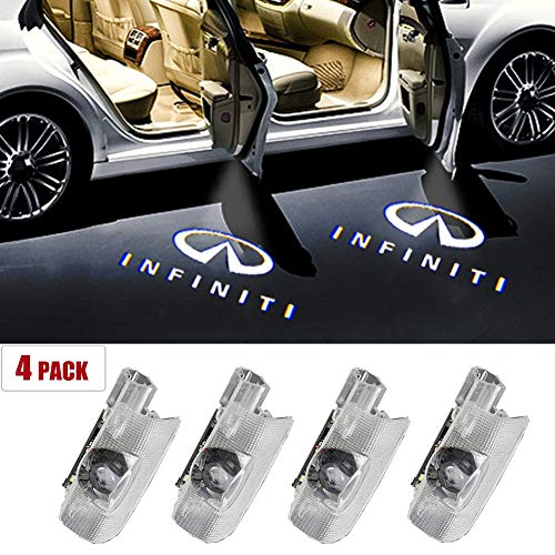 4PCS 3D Ghost Shadow Light Wireless Welcome Courtesy Projector Light Fit for Infiniti EX FX G M Q Series For Infiniti Car Door LED Logo Lights