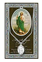 St Jude Pewter Medal on 18 Inch Chain with Embossed Pamphlet and Prayer [並行輸入品]