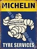 Omino Michelin Pneumatico SERVIZI AUTO VINTAGE garage metallo/insegna in acciaio - 40 x 30 cm