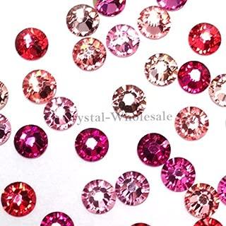 Swarovski 2058 SS16 (3.9mm) crystal flatbacks No-Hotfix rhinestones PINK Colors Mix