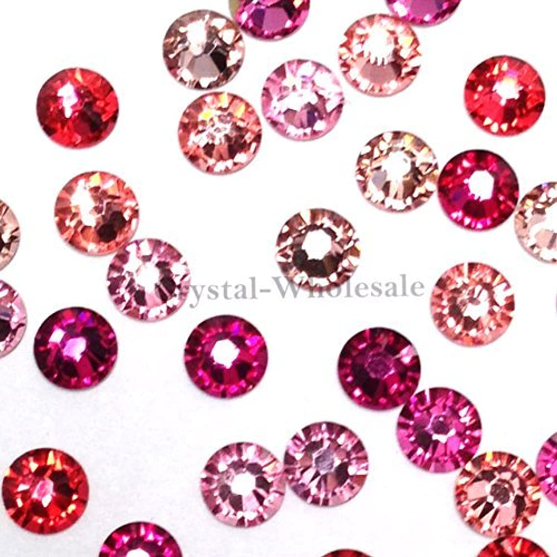 Swarovski 2058 SS16 (3.9mm) crystal flatbacks No-Hotfix rhinestones PINK Colors Mix