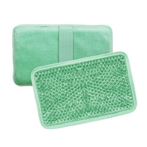 Gel Ice Pack Ice Bag with Strap-Reusable Hot & Cold Pack Compress Therapy for Pain, Swelling,Injuries of Knee, Shoulder, Foot, Back, Ankle, Neck, Hip, Elbow,Wisdom Tooth-7.76''x4.93'' (Green)