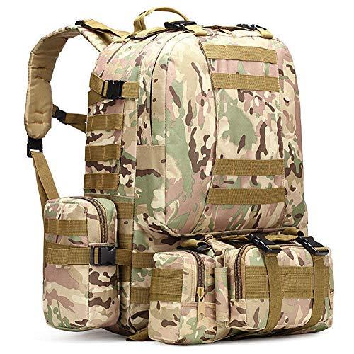 CGMZN Sac à Dos 50L Backpack 4 in1 Bags Rucksack Backpack Outdoor Sport Bag Men Camping Hiking Travel Climbing Bag