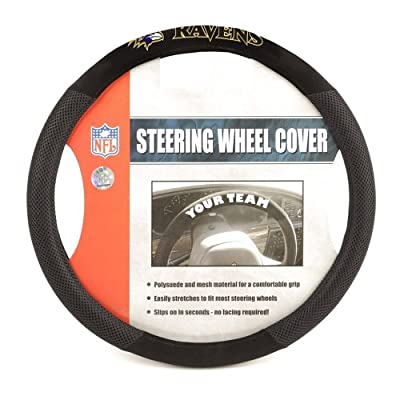 Fremont Die NFL Baltimore Ravens Poly-Suede Steering Wheel Cover