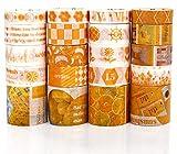 PuTwo Washi Tapes, 20 Rollos Washi Tape, 10mm/15mm/30mm Cinta Adhesiva Decorativa, Cinta Decorativa, Cinta Washi, Cinta Washi Japonesa, Cinta Washi para Diario, Cinta Decorativa para Manualidades