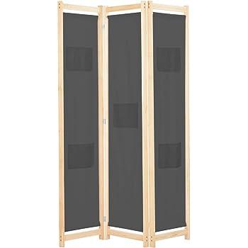 vidaXL Biombo Divisor de 3 Paneles de Tela Decoración Hogar Casa Jardín Bricolaje Salón Comedor Ambientes Habitaciones Separador 120x170x4 cm Gris: Amazon.es: Hogar