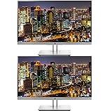 HP EliteDisplay E243 24 Inch IPS LED Backlit Monitor 2-Pack Bundle with FHD 1920...