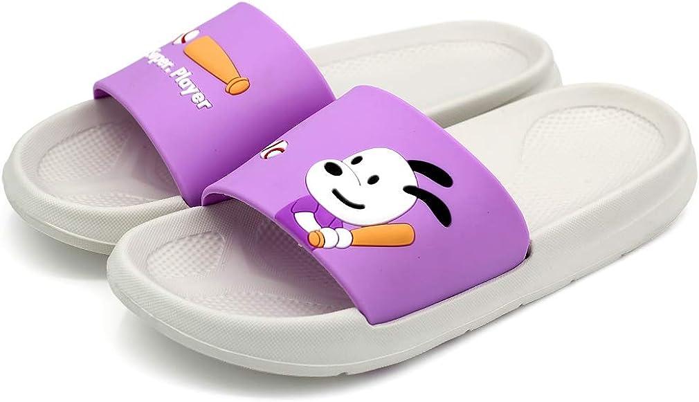 Cute Slides Women Cartoon Dog Baseball Girls Lightweight Slide Sandals Summer Shoes Slippers