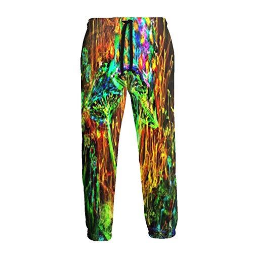 136 Pantalones deportivos coloridos para hombre, diseño de champiñones, cómodos, con bolsillos