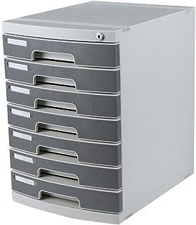 KANJJ-YU Supports à journaux Tiroir Sorter, Le bureau est de six étages.Lock, type de tiroir en plastique, la classificati...
