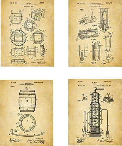 Whiskey Patent Wall Art Prints
