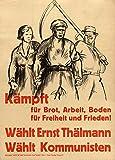 Poster, Deutsch Zwischenkriegs Kommunistischen KÄMPFT FÜR