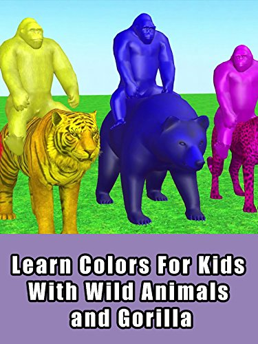 Learn Colors For Kids With Wild Animals and Gorilla