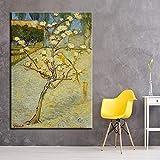 HANTAODG Leinwanddruck Drucken Leinwand Malerei Wandkunst Raum Hd Druckt Birne Blume Baum Blüte Bilder Impressionismus Poster Home Dekoration 50Cmx70Cm