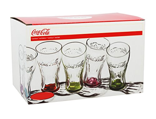 Enjoy Home Coca Cola-Set 6 Bicchieri Colori Assortiti Cl30 Art 95005