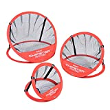 GoSports CHIPSTER Range - 3 Piece Golf Chipping Practice Net Target System with Carrying Case, Red