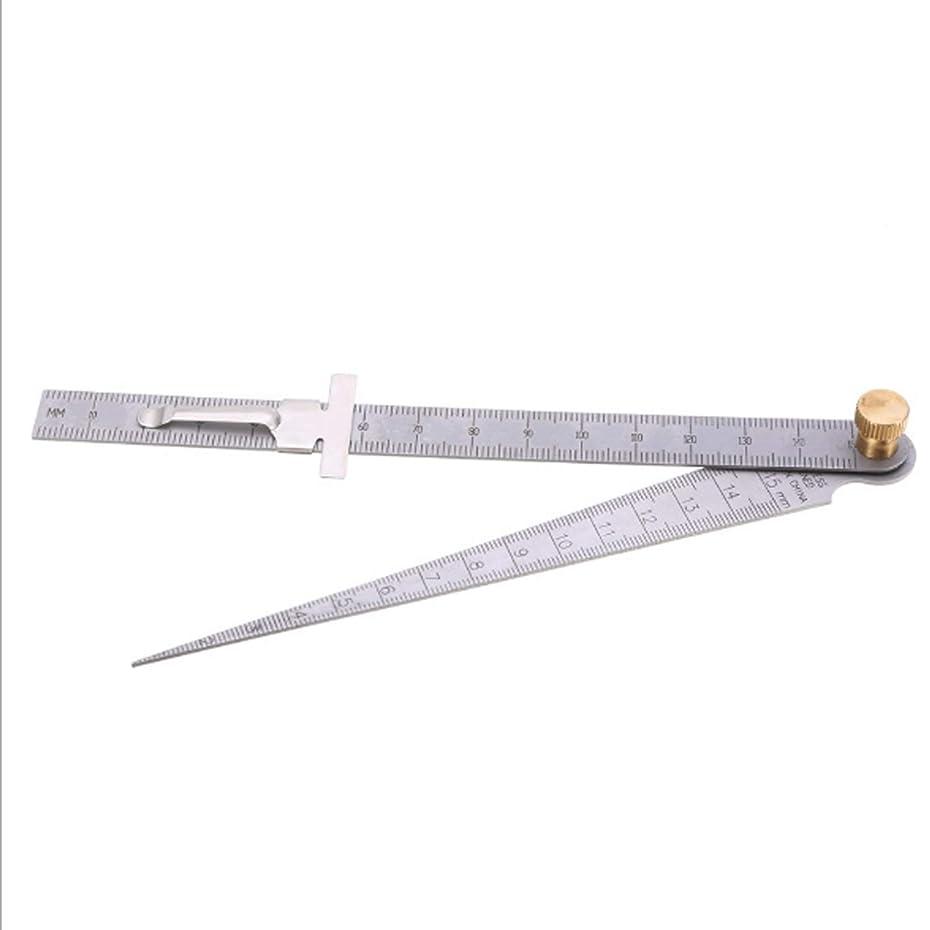 等価硫黄応援するL.P.L 開口測定 ステンレス鋼 テーパー定規1-15 mmクリアランス定規
