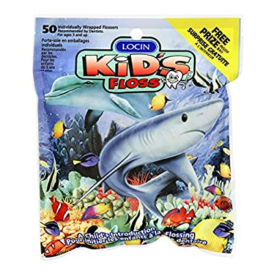 Kids Floss- 6x50count packs Individually Wrapped Floss Picks. (300 flossers)