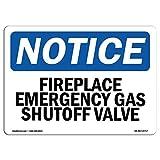 LINA señal de aviso de chimenea de emergencia válvula de cierre de gas retro señal de calle para el hogar metal letrero bar café coche motocicleta garaje decoración suministros 12 x 8 pulgadas