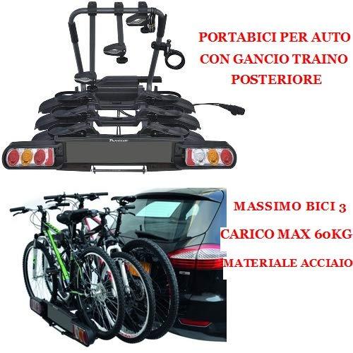 Barra para bicicleta Portabicicletas para coche con gancho para remolque trasero para...
