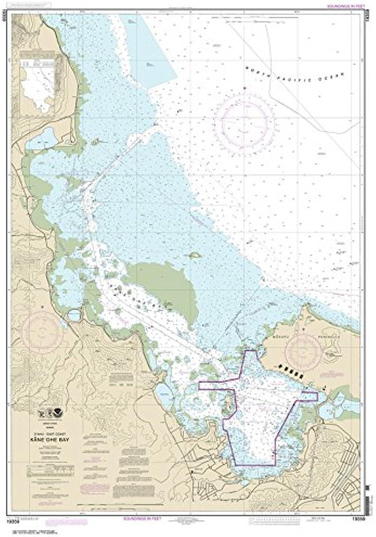 Paradise Cay Publications NOAA Chart 19359  O'ahu East Coast Kane'ohe Bay 31.9 x 45.8 (Traditional Paper)