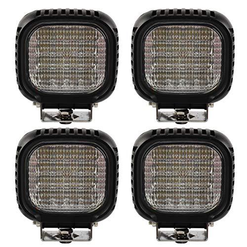 BRIGHTUM 4 X 48W CRE LED Offroad Arbeitsscheinwerfer weiß 12V 24V Reflektor worklight Scheinwerfer Arbeitslicht SUV UTV ATV Arbeitslampe Traktor Bagger LKW KFZ (4 Stück)
