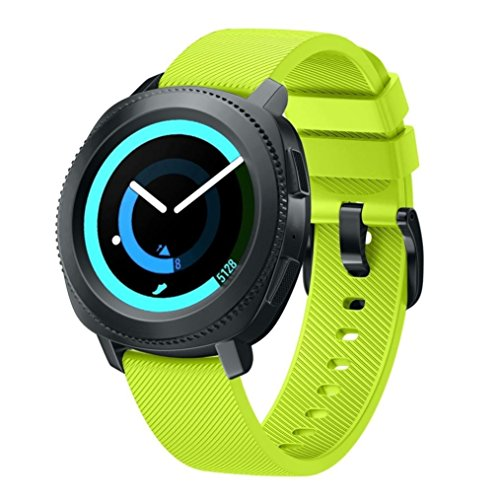 BarRan® Gear Sport SM-R600 Correa, 20 mm Pulsera Gear Sport, Banda Silicona para Samsung Gear Sport SM-R600 /Galaxy Watch Active/Galaxy Watch Active 2 Smartwatch