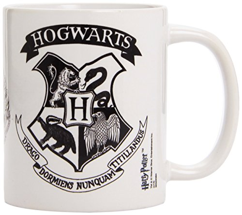 Harry Potter - Taza Hogwarts Crest Black, 320ml