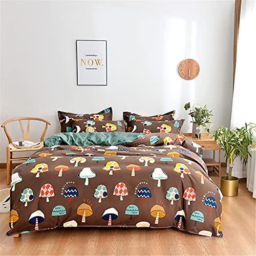 Ropa De Cama, Textiles para El Hogar, Funda Nórdica, Cómodo, Suave, Simple Y Elegante, Juego De 4 Piezas Fácil De Limpiar 200x230cm
