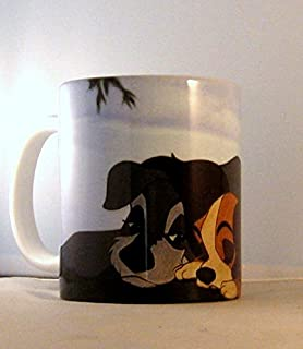 Unique Premium Coffee Tea Cup Mug Lady and the Tramp Happy Couple in Love Art Print on cup