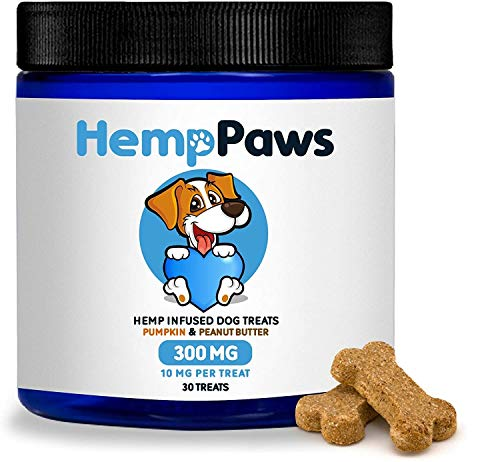Calming Treats for Dogs - Hemp Oil for Dogs - Relieves Anxiety and Stress - Arthritis Hip and Joint Pain Relief - Health and Mobility Support - Natural - Homemade Style - Dog Chews - Made in Colorado