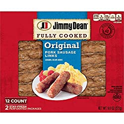 Jimmy Dean Fully Cooked Original Pork Sausage Links, 12 Count