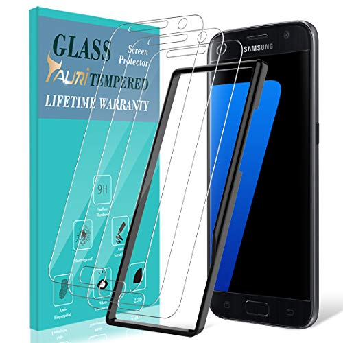 TAURI [3-Pack] Screen Protector for Samsung Galaxy S7, [Alignment Frame] Easy Install [Case Friendly] Tempered Glass Screen Protector