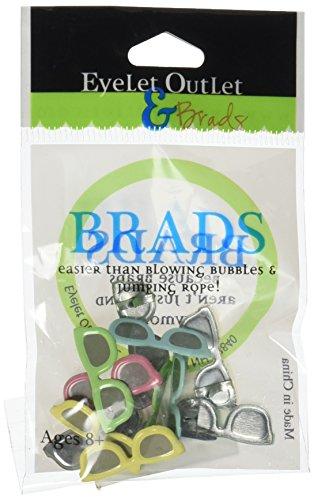 Occhiello Uscita Brads Forma, Occhiali da Sole Pastello, 12-Pack