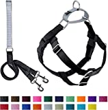2 Hounds Design PK 58MD BK Freedom No-Pull Dog Harness Training Package