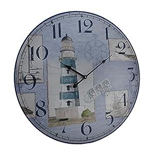 51--4pd0FYL._SS300_ Coastal Wall Clocks & Beach Wall Clocks