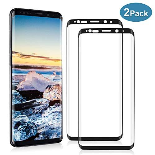 YIEASY [2-Piezas] Cristal Templado para Samsung Galaxy S9 Plus, Protector de Pantalla para Samsung Galaxy S9 Plus, 9H Dureza, Anti arañazos, Alta Sensible, Sin Burbujas