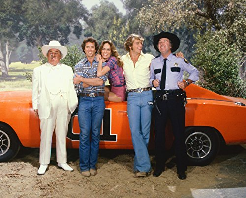Erthstore Dukes of Hazzard Color Cast by General Lee 8x10 Photograph