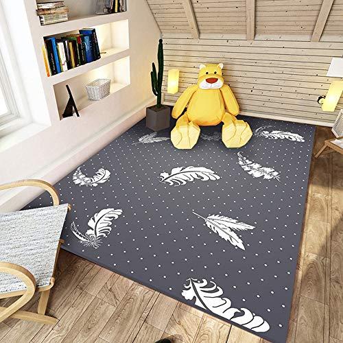 Area rug Tapis for Enfants, Tapis De Chevet for Chambre d'enfant en Microfibre Tapis De Yoga sans Odeur, Écologique Et Respectueux De l'environnement (Color : #3, Size : 140x200cm)