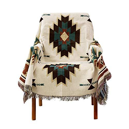 LouisaYork Manta protectora de sofá, manta de sofá, cálida y gruesa, manta de hilo de algodón...