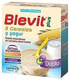 Blevit Plus Duplo 8 Cereales y Yogur - Papilla de Cereales para Bebé con Extra de Calcio y Sabor Especial a Yogur - Desde los 5 meses - 600g
