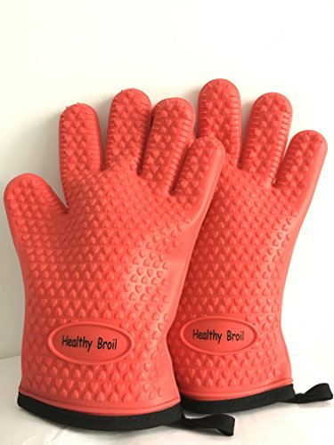 Silicone Cooking Gloves, Insulated Waterproof Gloves With Inner Protective Lining, Heat Resistant Grilling Oven Mitts Up To 480 F For Cooking, Baking, BBQ, Barbecue, Smoking, Non-slip Potholders